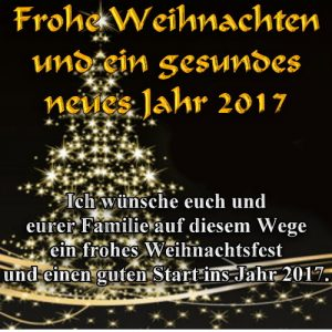 frohe Weihnachten 2016